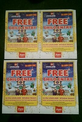 Free Child Entry X 4 Legoland Windsor * When Accompanied By Full Paying Adult