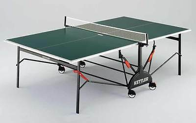 Full Size Kettler Table Tennis Table - Indoor with Bats, Balls and Net