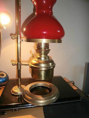 Very Rare Solid Brass Kosmos Student Oil Lamp