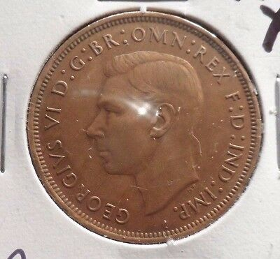 Circulated, Xf In Grade 1947 Large Penny Uk Coin! (22615)