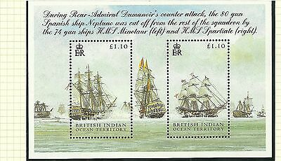 British Indian Ocean Territory Sgms325-Battle Of Trafalgar Mini Sheet Mnh
