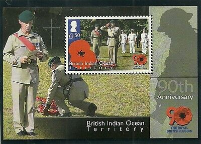 British Indian Ocean Territory Sgms472 90Th Anniv Royal British Legion M/s  Mnh