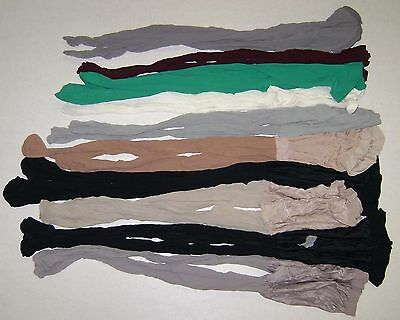 Lot 10 pairs of nylons pantyhose worn-tights size A or small used