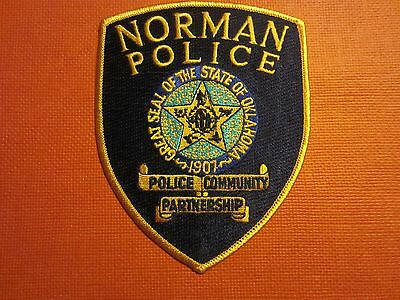 Collectible Oklahoma Police Patch Norman New