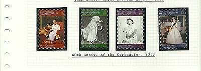 British Indian Ocean Territory Sg481-484 60Th Anniv Of Coronation  Set  Mnh
