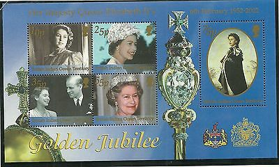British Indian Ocean Territory Sgms265 Golden Jubilee Minisheet Mnh