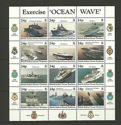British Indian Ocean Territory Sg202A-213 Excercise Ocean Whave Sheetlet Mnh