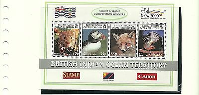 British Indian Ocean Territory Sgms235 The Stamp Show 2000 Mini Sheet Mnh