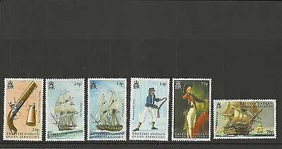British Indian Ocean Territory Sg319-324 Battle Of Trafalgar  Set Mnh