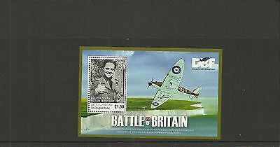 British Indian Ocean Territory Sgms437 70Th Anniv Of Battle Of Britain M/s  Mnh