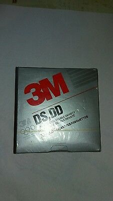 """New & sealed Vintage box of 10 3M DS DD 3.5"""" Floppy Disc Computer Diskettes"""