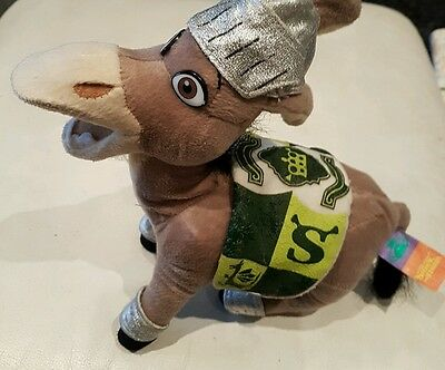 """Donkey from Shrek the Third 12"""" long x 11"""" high Plush  soft toy rare collectable"""