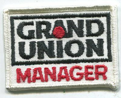 Vintage GRAND UNION MANAGER PATCH