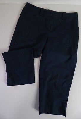 Nike FIT-DRY Smart/Casual Cropped Golf Trousers Blue 8UK