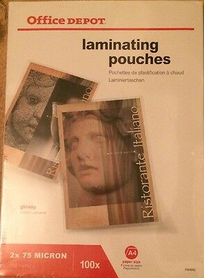 Office Depot 100 A4 Laminating Pouches