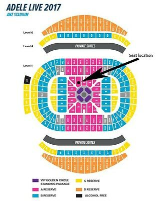 Adele Concert Tickets - 2 x A Reserve Friday 10th March Sydney ***SA17***