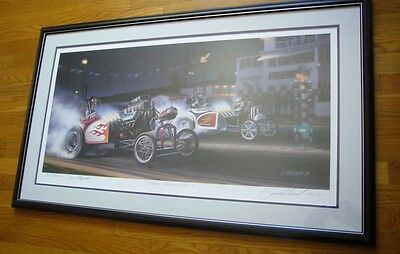 NHRA DRAG RACING altereds print  BETWEEN HEAVEN and HELL SIGNED  JAMES IBUSUKI