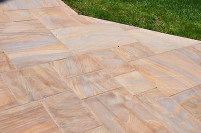 Rainbow Smooth Sawn Indian Sandstone Paving, 20mm Thick 600 Mixed Pack 19.50 m2