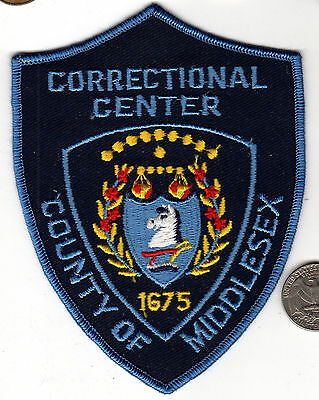 COUNTY OF MIDDLESEX CORRECTIONS POLICE PATCH State New Jersey Cloth Badge Shield