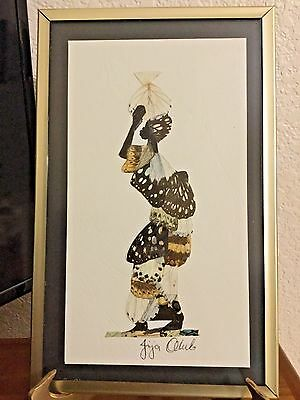 Artist Signed Stunning Made Of Real Butterfly Wings Awesome Work Of Art