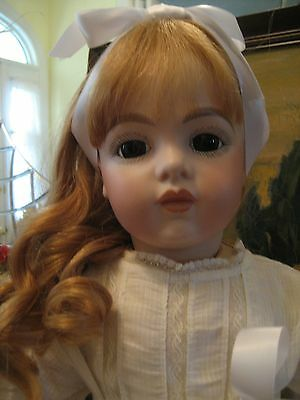 Antique Bru French Bisque Doll Head Only Reproduction Read