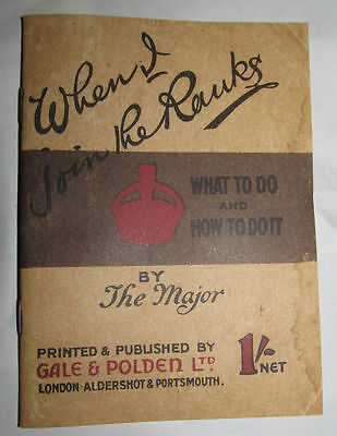 When I Join the Ranks World War I II Mini Book Trenches Military British Army UK