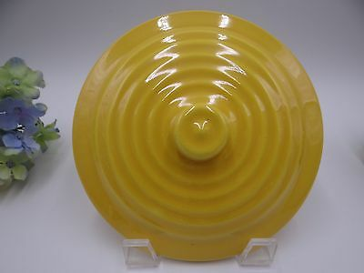 Early Bauer Pottery Ring Ware Canary Yellow Casserole Lid