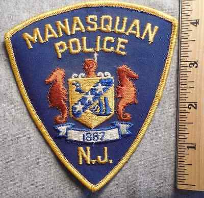 Manasquan New Jersey Police Patch (Highway Patrol, Sheriff, State)
