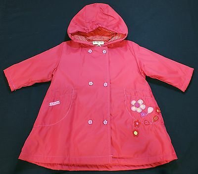 Coat jacket baby girl raincoat designer brand M.Ma.Me red 6 months