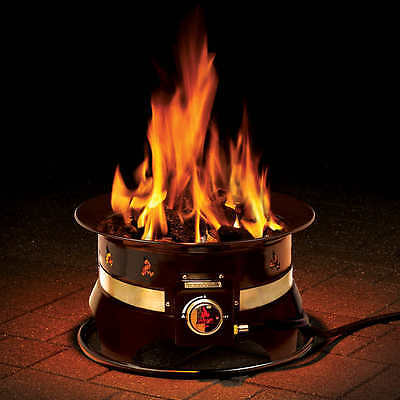 "Outland 18"" Portable Propane Patio Camping Fire Bowl Premium With Carry Case NEW"