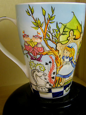 New Scarce ALICE IN WONDERLAND Mug- Designed in England by PAUL CARDEW- 4 3/4""