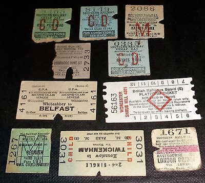 10 Railway Tickets Inc Gwinear Road To Redruth