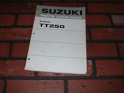 Genuine Suzuki Tt250 Dealers Illustrated Parts Catalogue.1972.