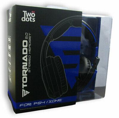 TWO DOTS Cuffie Gaming Headset Stereo Tornado 2.0 Blue PS4 / XBOX ONE TWO DOTS