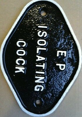 A Cast Iron Sign E.p.isolating Cock.