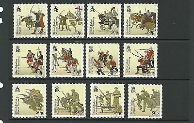 British Indian Ocean Territory Sg439-450 Great Battles  Set Mnh
