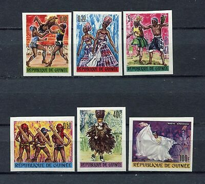 S12281) GUINEA GUINE1966 MNH** Nuovi** African Art & Culture 6v IMPERFORATED