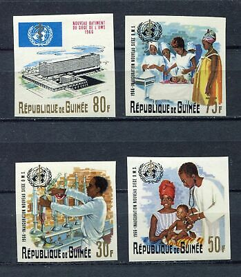 s12285) GUINEA GUINEE 1967 MNH** Nuovi** WHO 4v IMPERFORATED