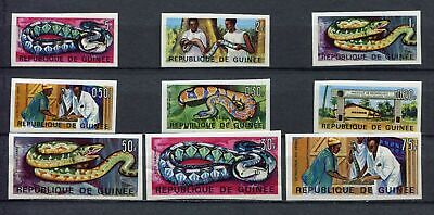 s12286) GUINEA 1967 MNH** Institute for Applied Biology snakes 9v IMPERFORATED