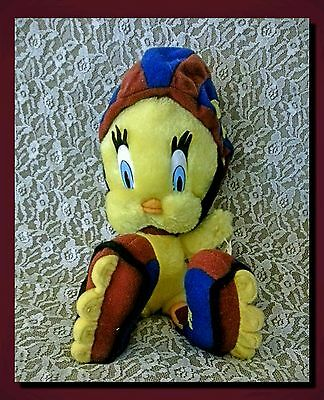 "Vintage Looney Tunes Skating Tweety Bird & Helmet ACE 10"" Plush/Stuffed Toy NWT!"