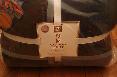 New Pottery Barn Teen Nba Patchwork Full/queen Quilt Eastern Nwt