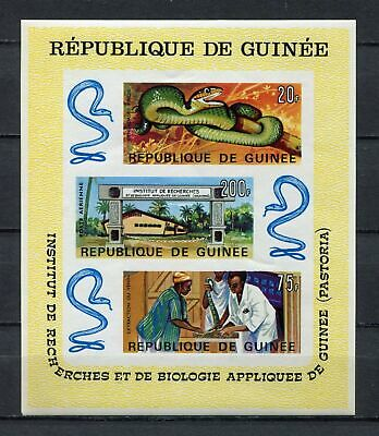 s12305) GUINEA  GUINEE 1967 MNH**  Institute Applied Biology snakes S/S IMPERF.