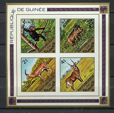 s12307) GUINEA  GUINEE 1975 MNH**  Animals S/S IMPERFORATED