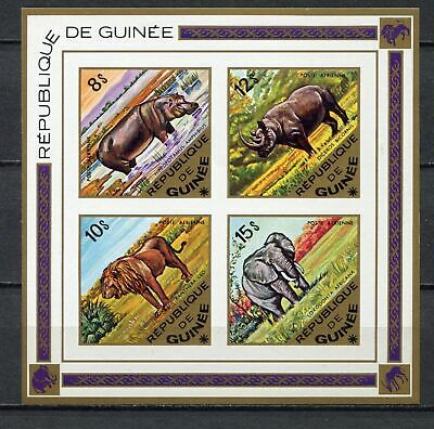 s12308) GUINEA  GUINEE 1975 MNH**  Animals S/S IMPERFORATED