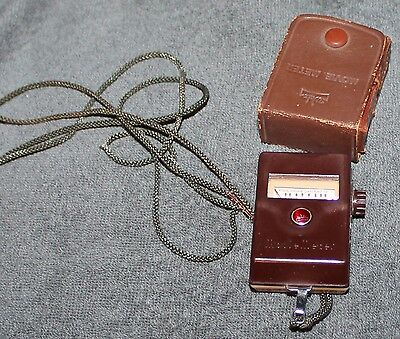 Vintage Walz Movie Meter Light Meter Preset M-1 With Case & Neck Strap