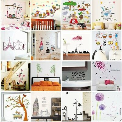 DIY Personalised Removable Art Vinyl Wall Stickers Decal Decor Mural Home Room