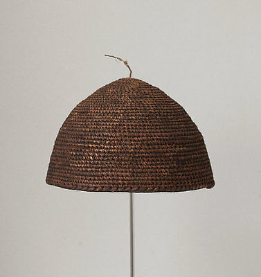 Antique Kirdi woven dance hat, CAMEROON