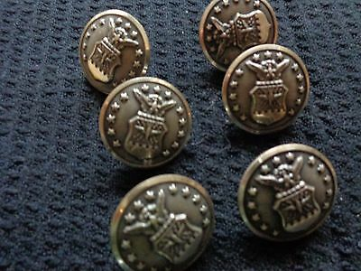 Vintage Lot of 6 Waturbury Button Company Military Buttons Excellent Condition!