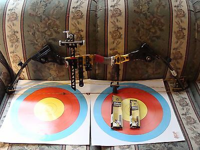Mathews Apex 7 Target bow, Gold/Black Fusion Finish/Extra string in Mint!