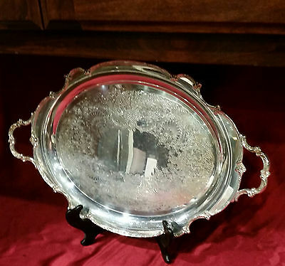 """REFLECTION Silverplate SERVING TRAY 1847 Rogers Bros IS 9280  21x13"""" Vtg MINT!"""